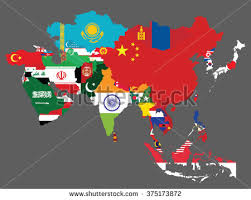 map of countries of asia colorful map of asia with regions free vector