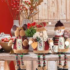 Home Decoration Christmas Christmas Santa Claus Snow Man Elk Doll For Home Decoration