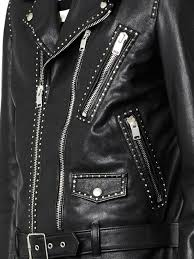 leather biker jackets for sale saint laurent studded leather biker jacket in black for men lyst