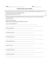 nouns worksheets possessive noun lesson plan for grade 6 wr