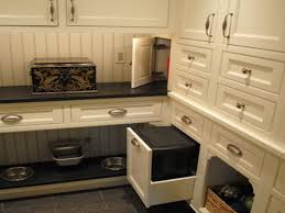 kitchen kitchen built in dog food bowls dog food storage and bowl