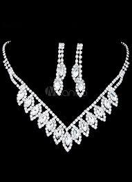 Favorito Bodas de prata joias strass noivas conjunto perfurado redondos  @ZP24