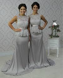 grey bridesmaid dresses 2015 new lace grey bridesmaid dresses boat neck sheer wedding