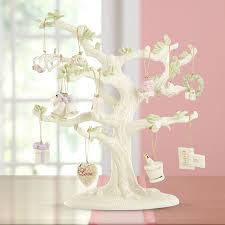 lenox miniature ornament tree with 12 sets