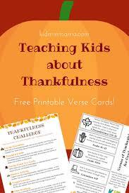 teaching about thankfulness