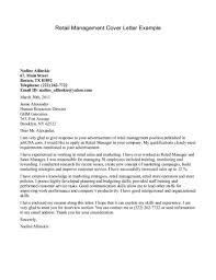 example of great cover letter example of cover letter for retail template