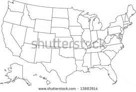 united states including alaska and hawaii blank map united states map vector free vector stock