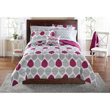 dorm bedding for girls mainstays ikat bed in a bag bedding set walmart com