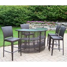 Travertine Patio Table Furniture Ideas High Patio Set With Travertine Tiles And Black