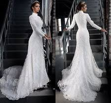 handmade long sleeve scoop neck column sheath wedding dresses ebay