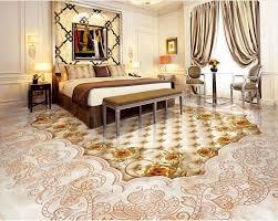 marbled mosaic tiled floors waterproof floor mural painting self