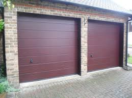 hormann m ribbed sectional garage door in white smooth back fix