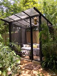 outdoor screen room ideas relaxing screened room for the garden source austin tx in the