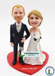 cake toppers bobblehead custom wedding bobble cake topper