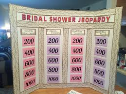 bridal shower jeopardy bridal showers bridal showers and