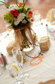 table decor for western wedding theme barn wedding ideas for