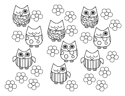 cute owl pictures to color free download