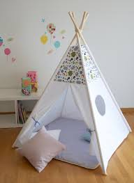 Kids Teepee by Grey Clouds And Stars Kids Teepee Play Tent With A Padded Floor