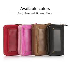 Patio Table Cover With Umbrella Hole Zipper by Double Deck Multi Functional Card Slot Zipper Wallet Case Cover