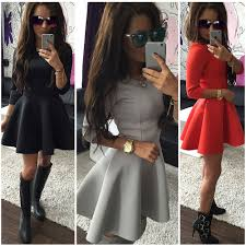 uk women 3 4 sleeve skirt dress ladies evening party mini skater