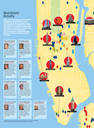 New York City Map Of Manhattan by Real Estate Royalty Mapping New York City U0027s Billionaire Landlords