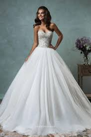 strapless sweetheart sparkly beaded tulle ball gown wedding dress