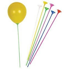 balloon sticks bulk pack of balloon sticks and cups multi color