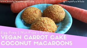 carrot cake vegan coconut macaroons gluten free paleo egg free