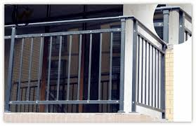 durable u0026 decorative black wrought iron balcony railing