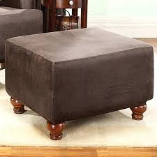oversized chair and ottoman slipcover slipcovers for chairs and ottoman sure fit brown stretch ottoman