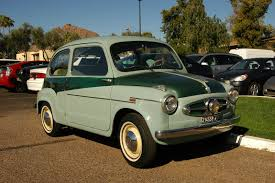 old parked cars 1955 fiat 600