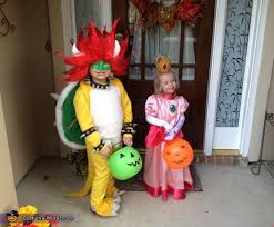 Princess Peach Halloween Costume Super Mario Bowser Costume Photo 2 5