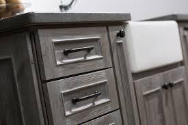 Dura Supreme Kitchen Cabinets Weathered Wood Kitchen Island Rustic Kitchen San Diego By