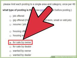 How To Write A Resume Examples by How To Sell A Car On Craigslist 14 Steps With Pictures