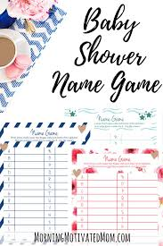 baby shower name game printable morning motivated mom