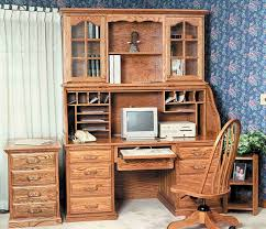 Roll Top Desk Oak Amish Traditional Roll Top Desk With Hutch