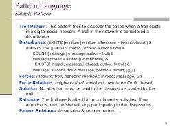 pattern language digital multidimensional patterns of disturbance in digital social networks