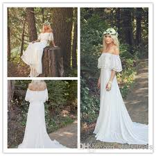 hippie wedding dresses bohemian wedding dress 1970s hippie bohemian gown ivory