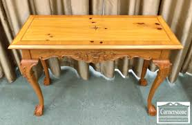 pine chippendale sofa table with carving baltimore maryland