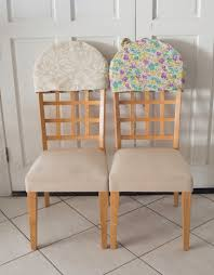 chair back covers reversible padded chair back covers sew crafty