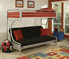 Wood Bunk Bed With Futon Solid Wood Bunk Bed With Queen Size Bottom Delicate And