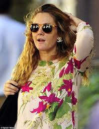 Flower Power Nyc - the flower theme continues drew barrymore goes make up free in