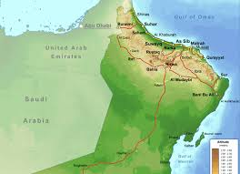 map of oman oman map oman mappery