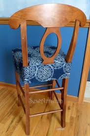 Chair Seat Cover Padded Chair Cover Sewing Pinterest Chair Covers Sewing