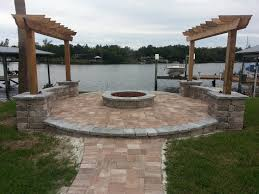 paver patios with fire pit glamorous paver brick patio ideas