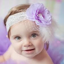 lace headband purple flower diamanté feather lace headband childrensalon