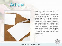 How To Make A Card Envelope - how to make handmade greeting cards at home