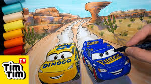 how to draw fabulous lightning mcqueen and dinoco ramirez at