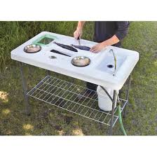Guide Gear Deluxe Fish Game Processing Table With Faucet And