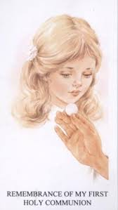 my communion girl remembrance of my holy communion holy card